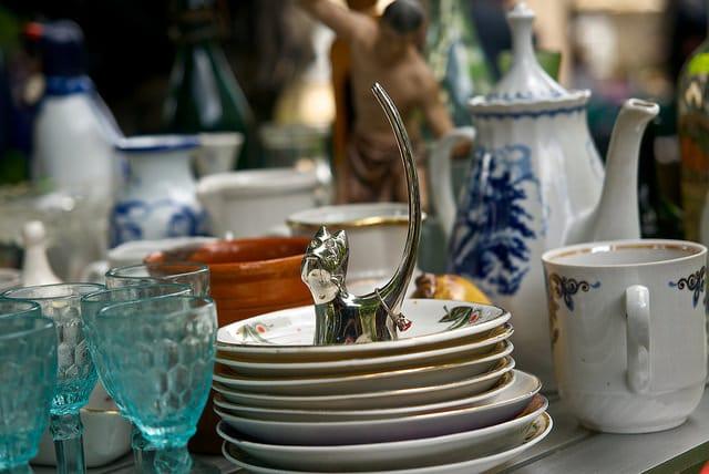 Plates at restaurant near riverfront in wilmington, de