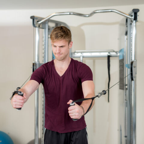 man working out at gym in Apartment in Wilmington DE