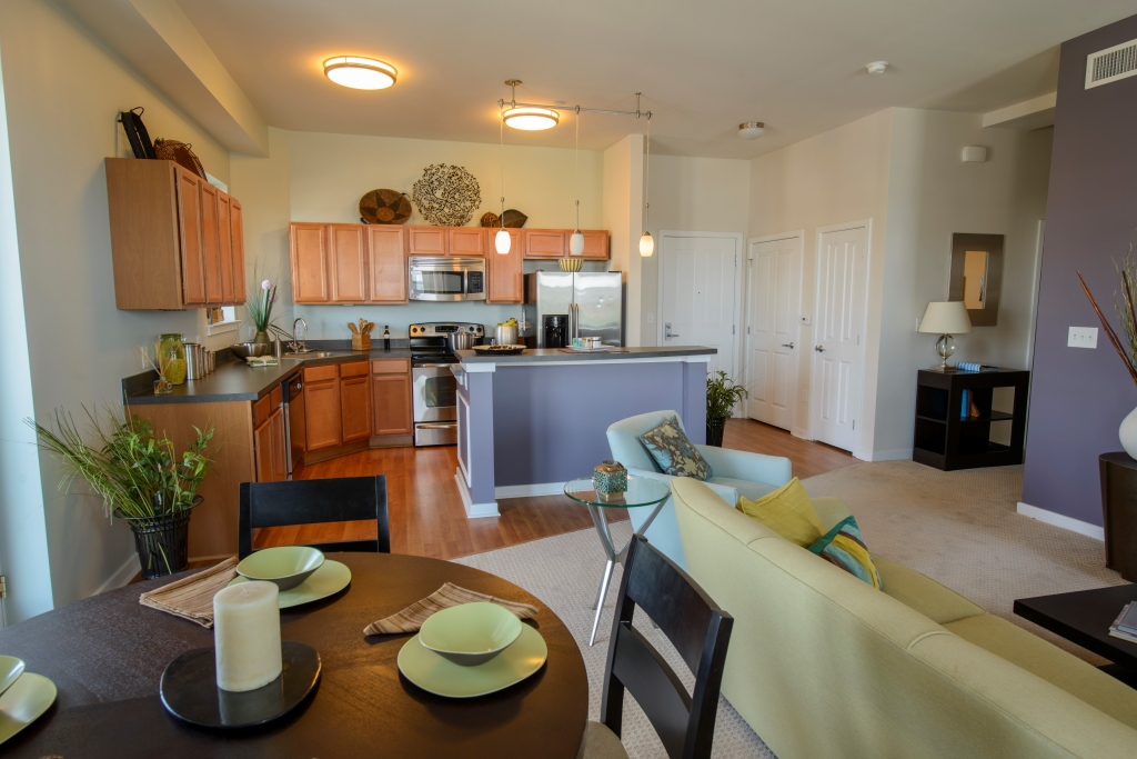 interior kitchen and dining room of Apartment in Wilmington DE