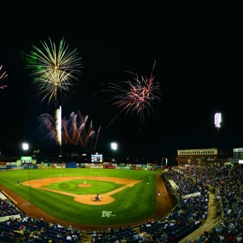fireworks over baseball stadium near Apartment in Wilmington DE